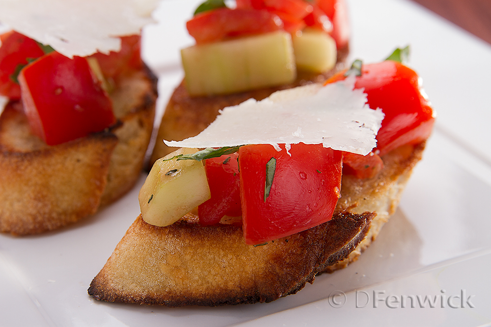 Cucumber and Tomato Bruschetta by D Fenwick, http://dfenwickpghotography.com