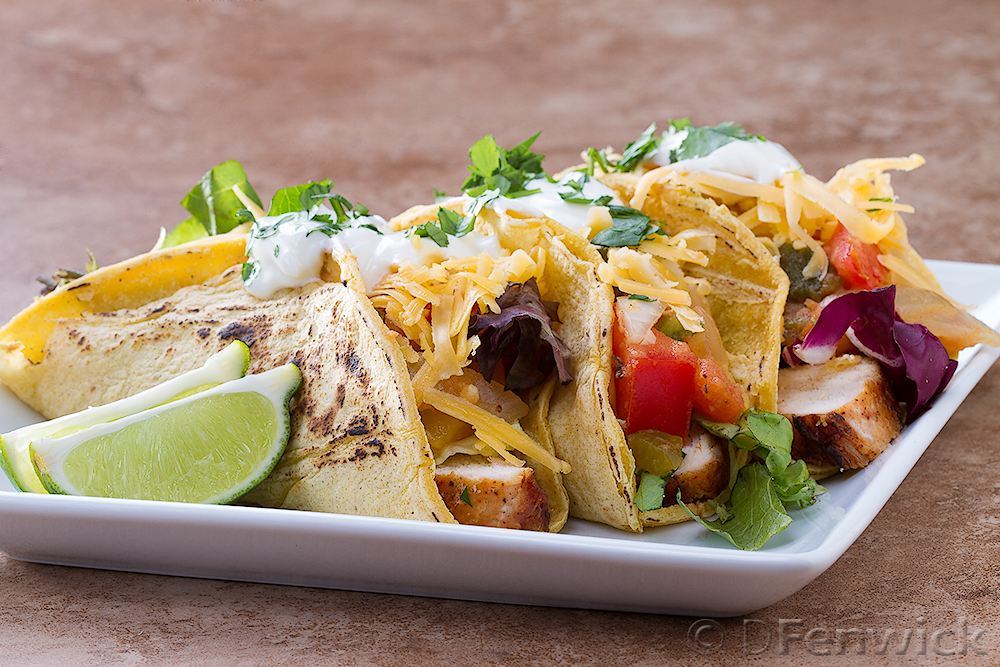 Grilled chicken tacos by D Fenwick, http://dfenwickphotography.com