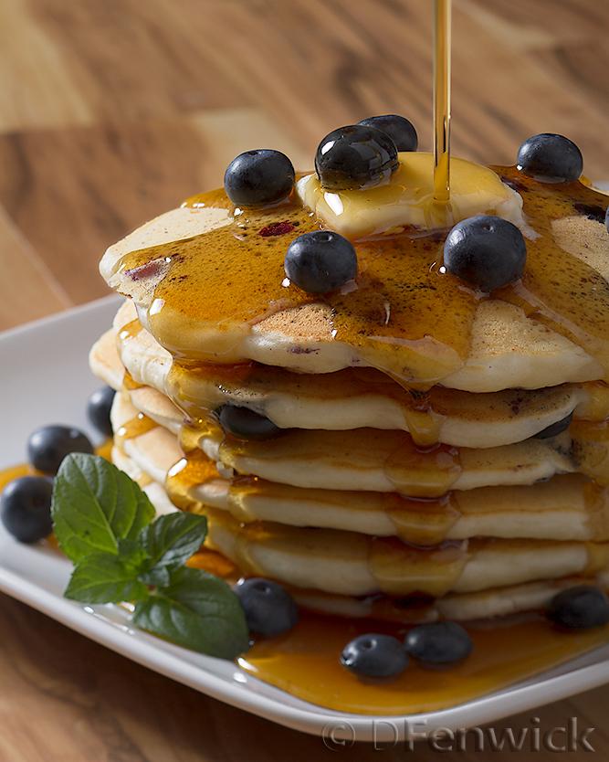 Blueberry Ricotta Pancakes by D Fenwick, http://dfenwickphotography.com