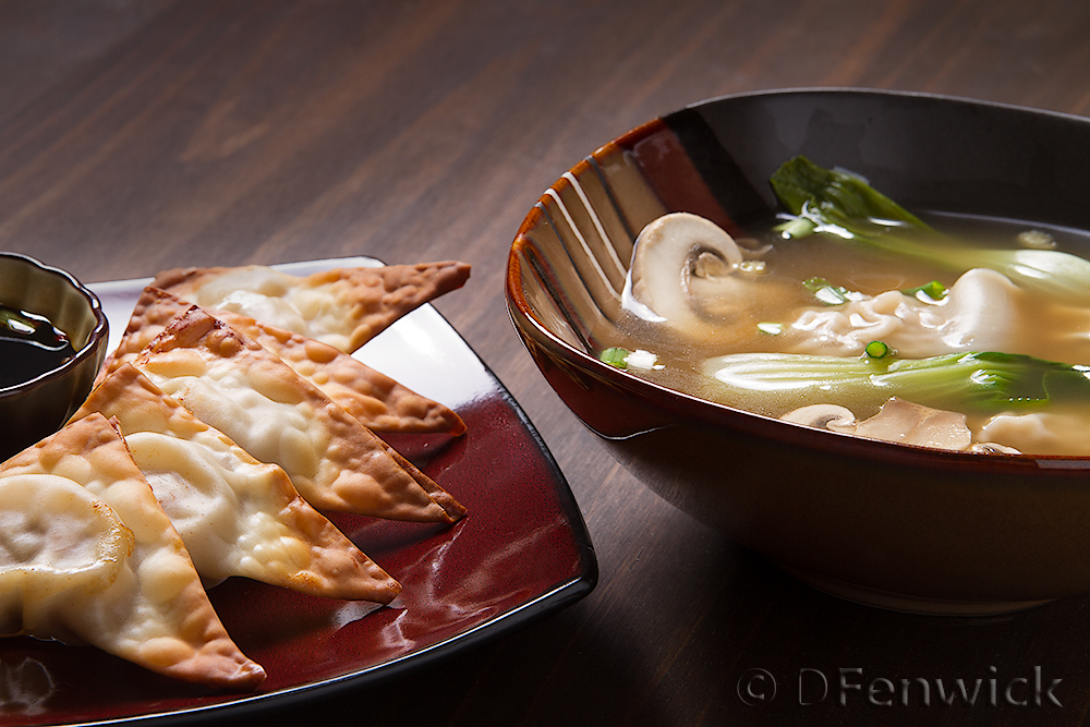 Won Tons and Won Ton Soup, photo by D Fenwick, http://dfenwickphotography.com