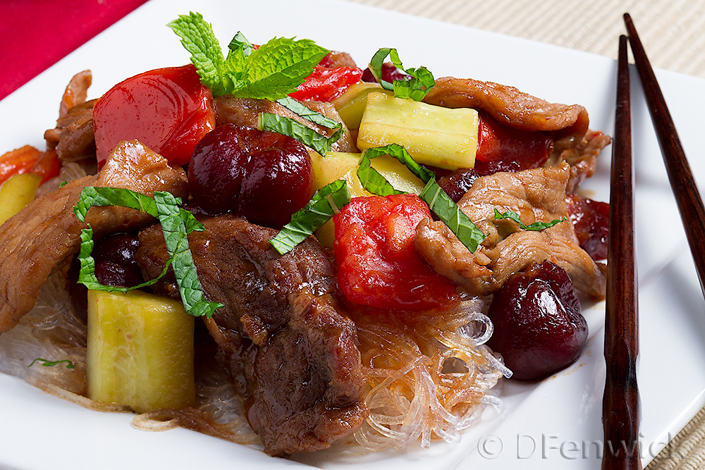 pork cherry stir fry by D Fenwick, http://dfenwickphotography.com