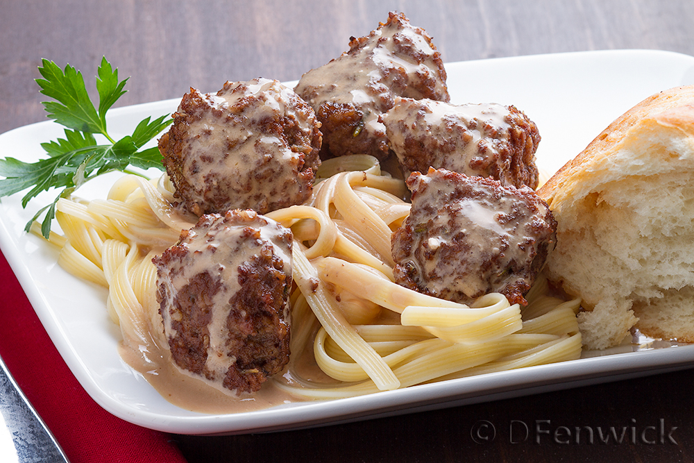 Turkey Meatballs in a Cream Sauce by D Fenwick, http://dfenwickphotography.com