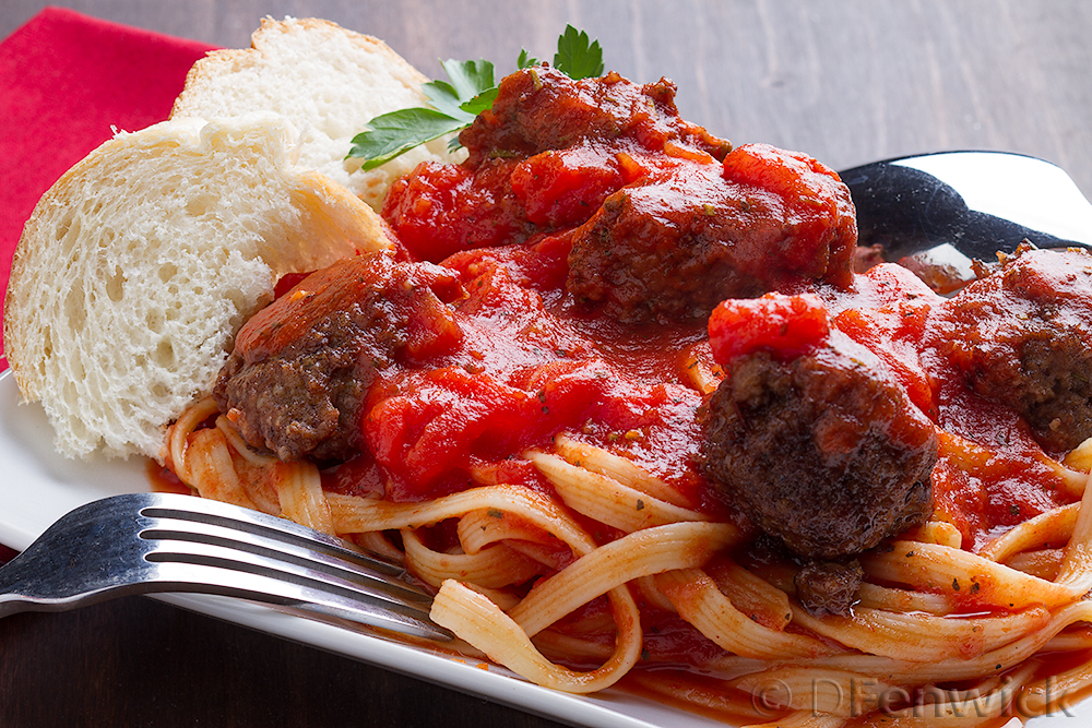Turkey Meatballs in a Red Sauce by D Fenwick, http://dfenwickphotography.com